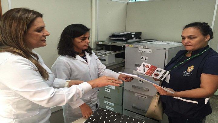 07.11.19 VisaManaus inspeciona unidades dispensadoras de talidomida. Fotos: Divulgação Visa Manaus.